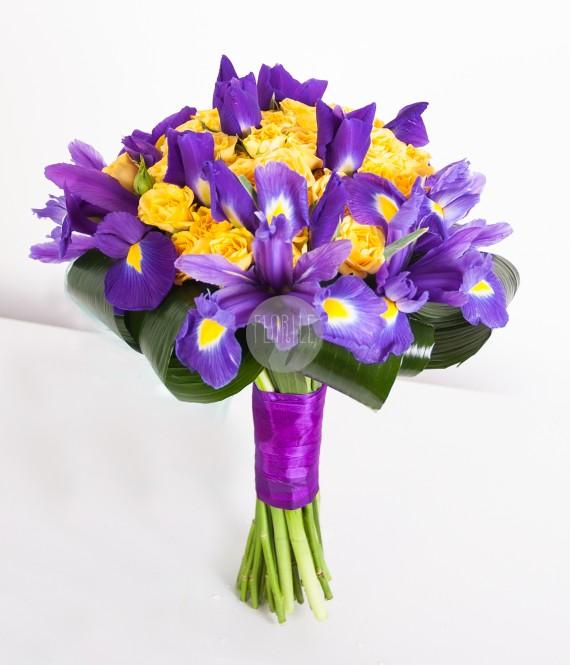 Buchet cu irisi