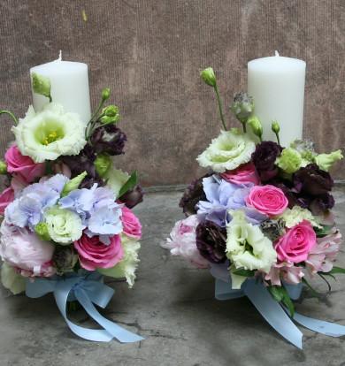 Lumânări cu hortensie